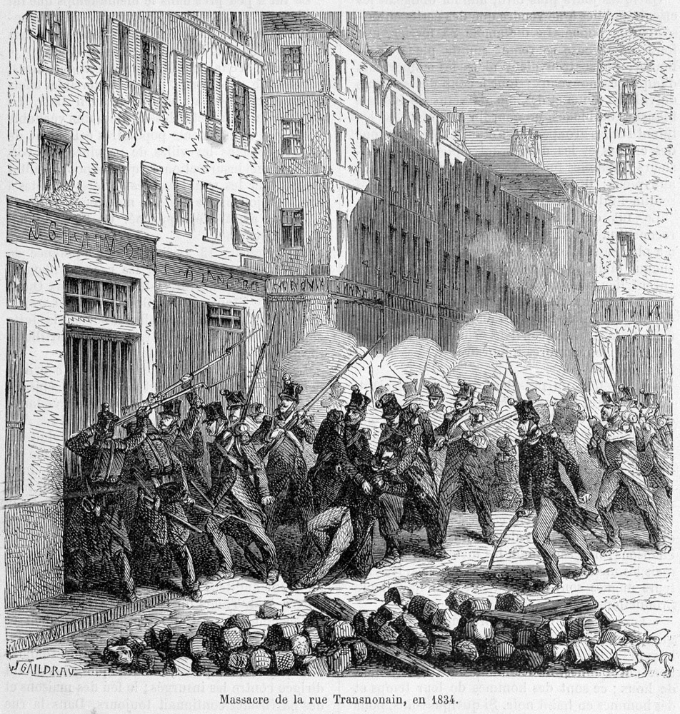 rue transnonain the peoples terrorist This video examines honoré daumier's lithograph rue transnonain, 15 april 1834 depicting the massacre of innocent civilians, this haunting image employs a particular contemporary event to.