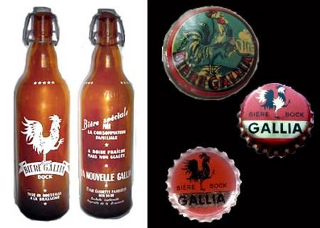 bouteilles capsules gallia