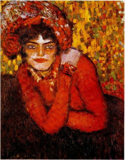 Picasso Pierreuse, la main sur l'épaule. 1901