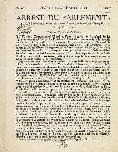 Arrêt_du_parlement_de_Paris_condamnant_à_mort_François_Ravaillac_Page_117_-_Archives_Nationales_-_AD-148