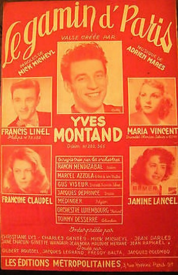Partition-Le-gamin-dParis-Yves-Montand-Francis-Linel