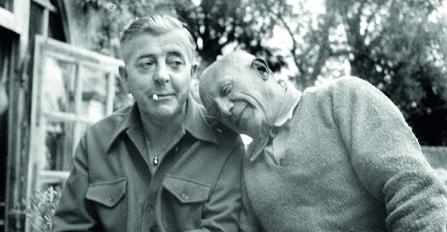 Pablo Picasso et Jacques PrÈvert. Cannes, avril 1951. LIP-1069-118