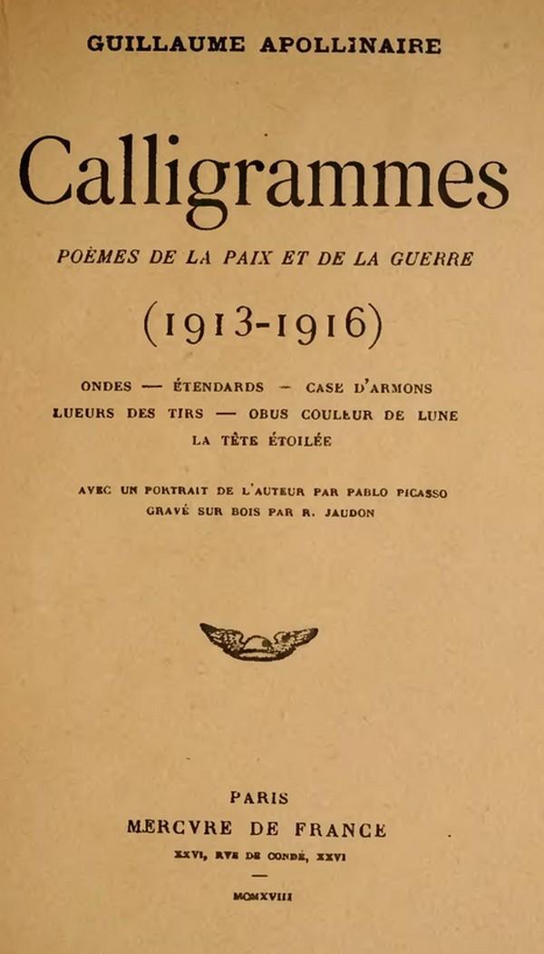 La Tour Eiffel Apollinaire Calligramme Paris à Nu