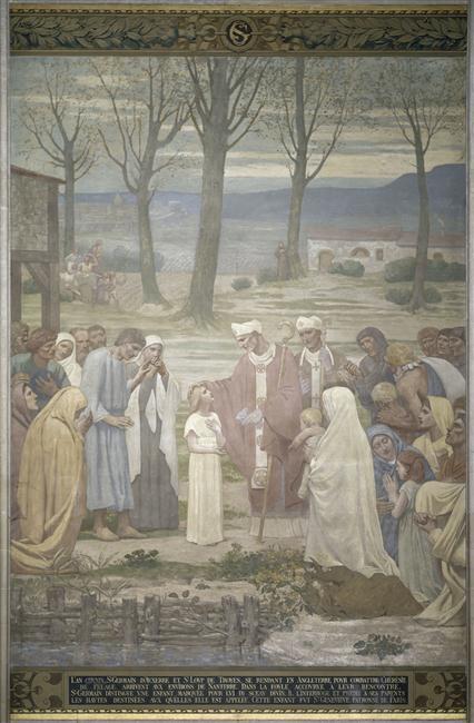 l'enfance de sainte geneviève